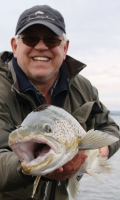 A happy day at Brown Trout fishing.